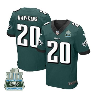 Nike Eagles 20 Brian Dawkins Green 2018 Super Bowl Champions Elite Jersey