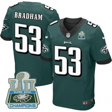 Nike Eagles 53 Nigel Bradham Green 2018 Super Bowl Champions Elite Jersey