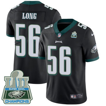Nike Eagles 56 Chris Long Black 2018 Super Bowl Champions Vapor Untouchable Player Limited Jersey