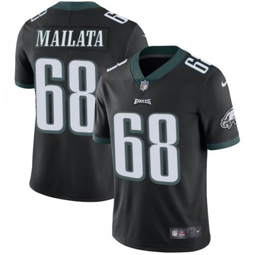 Nike Eagles 68 Jordan Mailata Black Vapor Untouchable Limited Jersey