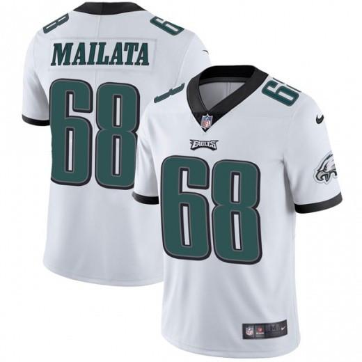 Nike Eagles 68 Jordan Mailata White Vapor Untouchable Limited Jersey