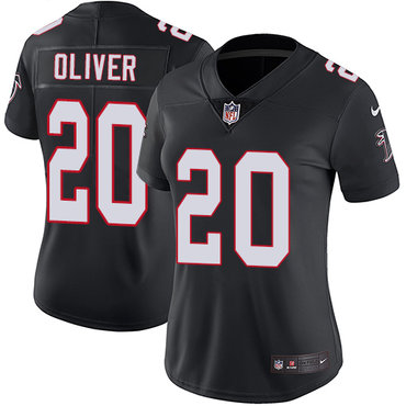 Nike Falcons #20 Isaiah Oliver Black Alternate Women's Stitched NFL Vapor Untouchable Limited Jersey