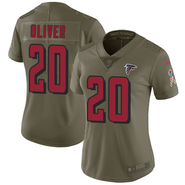 Nike Falcons #20 Isaiah Oliver Red Youth Stitched NFL Limited Rush Jersey