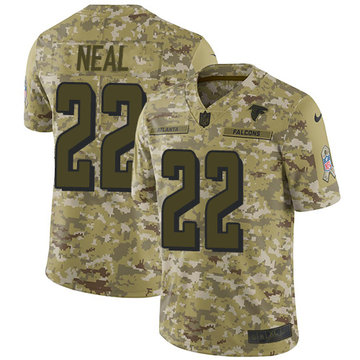 Nike Falcons #22 Keanu Neal Camo Youth Stitched NFL Limited 2018 Salute to Service Jersey