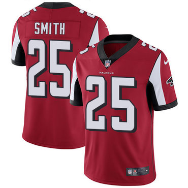 Nike Falcons #25 Ito Smith Red Team Color Men's Stitched NFL Vapor Untouchable Limited Jersey