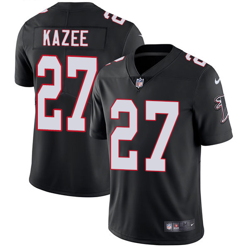 Nike Falcons #27 Damontae Kazee Black Alternate Men's Stitched NFL Vapor Untouchable Limited Jersey