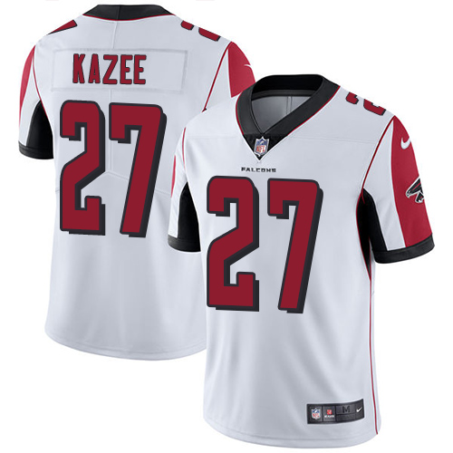 Nike Falcons #27 Damontae Kazee White Men's Stitched NFL Vapor Untouchable Limited Jersey