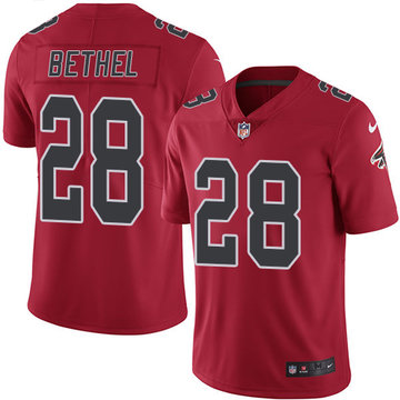 Nike Falcons #28 Justin Bethel Red Men's Stitched NFL Limited Rush Jersey