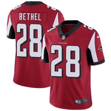 Nike Falcons #28 Justin Bethel Red Team Color Men's Stitched NFL Vapor Untouchable Limited Jersey