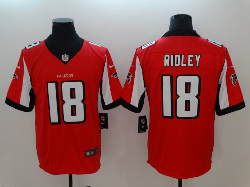 Nike Falcons 18 Calvin Ridley Red Vapor Untouchable Limited Jersey