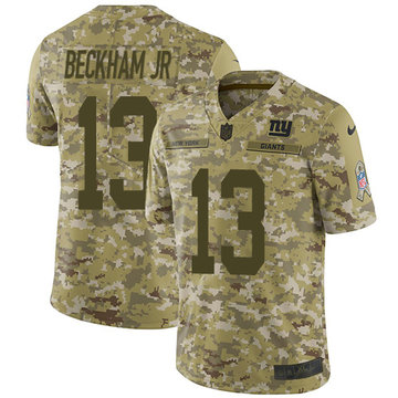 Nike Giants #13 Odell Beckham Jr Camo Youth Stitched NFL Limited 2018 Salute to Service Jersey