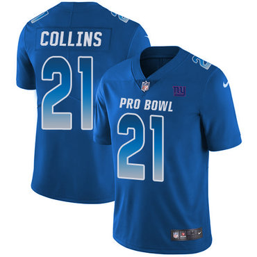 Nike Giants #21 Landon Collins Royal Men's Stitched NFL Limited NFC 2018 Pro Bowl Jersey