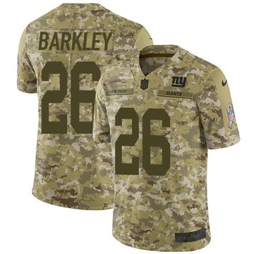 Nike Giants #26 Saquon Barkley Camo Youth Stitched NFL Limited 2018 Salute to Service Jersey