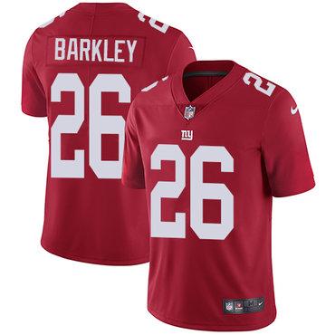 Nike Giants #26 Saquon Barkley Red Alternate Men's Stitched NFL Vapor Untouchable Limited Jersey