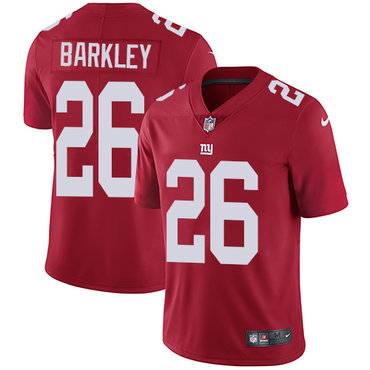 Nike Giants #26 Saquon Barkley Red Alternate Youth Stitched NFL Vapor Untouchable Limited Jersey