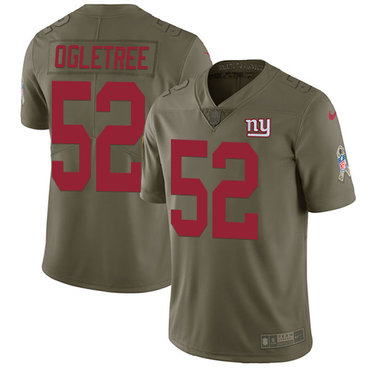 Nike Giants #52 Alec Ogletree Olive Men's Stitched NFL Limited 2017 Salute To Service Jersey