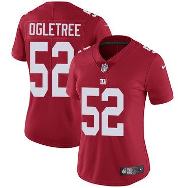 Nike Giants #52 Alec Ogletree Red Alternate Women's Stitched NFL Vapor Untouchable Limited Jersey