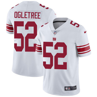 Nike Giants #52 Alec Ogletree White Men's Stitched NFL Vapor Untouchable Limited Jersey