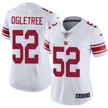 Nike Giants #52 Alec Ogletree White Women's Stitched NFL Vapor Untouchable Limited Jersey