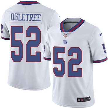 Nike Giants #52 Alec Ogletree White Youth Stitched NFL Limited Rush Jersey