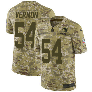 Nike Giants #54 Olivier Vernon Camo Youth Stitched NFL Limited 2018 Salute to Service Jersey
