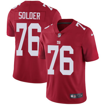 Nike Giants #76 Nate Solder Red Alternate Men's Stitched NFL Vapor Untouchable Limited Jersey