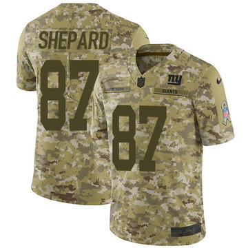 Nike Giants #87 Sterling Shepard Camo Youth Stitched NFL Limited 2018 Salute to Service Jersey