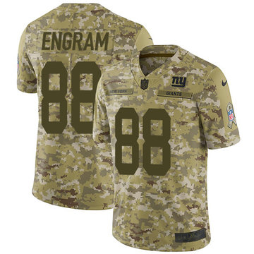 Nike Giants #88 Evan Engram Camo Youth Stitched NFL Limited 2018 Salute to Service Jersey