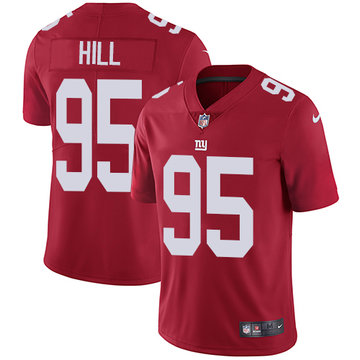 Nike Giants #95 B.J. Hill Red Alternate Men's Stitched NFL Vapor Untouchable Limited Jersey