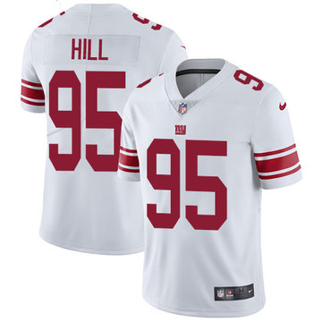 Nike Giants #95 B.J. Hill White Men's Stitched NFL Vapor Untouchable Limited Jersey