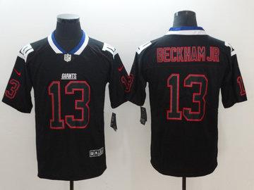 Nike Giants 13 Odell Beckham Jr Black Shadow Legend Limited Jersey