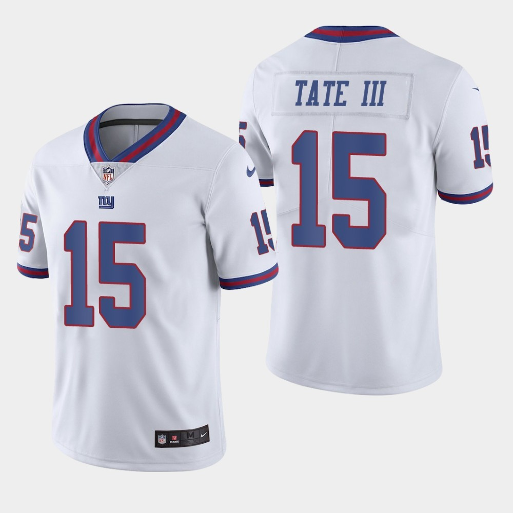 Nike Giants 15 Golden Tate III White Color Rush Limited Jersey