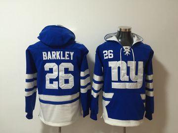 Nike Giants 26 Saquon Barkley Royal All Stitched Hooded Sweatshirt