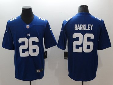 Nike Giants 26 Saquon Barkley Royal Vapor Untouchable Limited Jersey