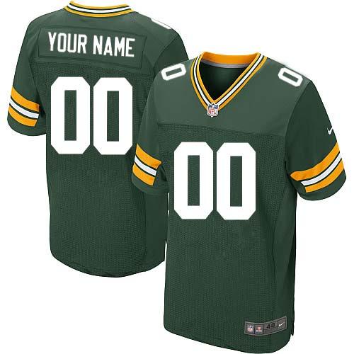 Nike Green Bay Packers Elite Green Home Men's Jersey NFL Customized jerseys