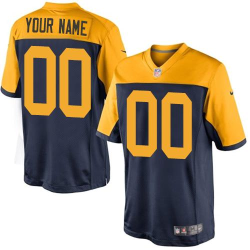 Nike Green Bay Packers Elite Navy Blue Alternate Youth Jersey NFL  Vapor Untouchable Customized jerseys