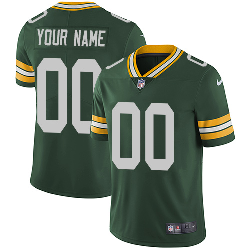 Nike Green Bay Packers Limited Green Home Men's Jersey NFL Vapor Untouchable Customized jerseys