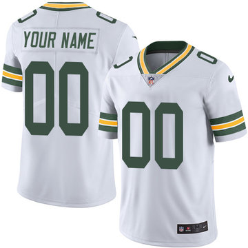 Nike Green Bay Packers Limited White Road Men's Jersey NFL  Vapor Untouchable Customized jerseys