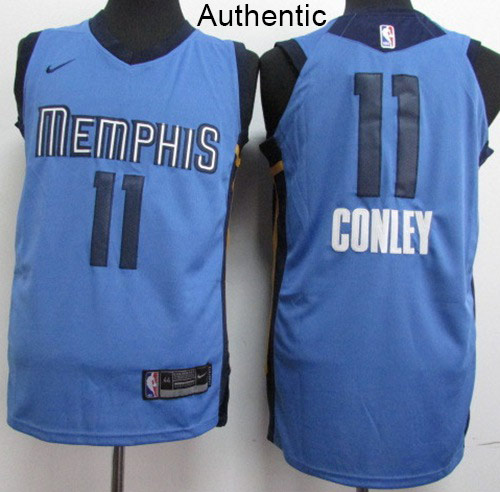 Nike Grizzlies #11 Mike Conley Light Blue NBA Authentic Statement Edition Jersey