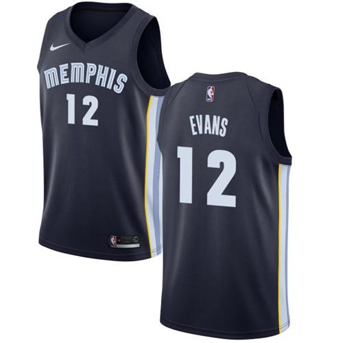 Nike Grizzlies #12 Tyreke Evans Navy Blue NBA Swingman Icon Edition Jersey