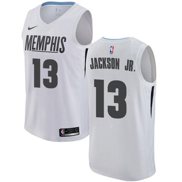 Nike Grizzlies #13 Jaren Jackson Jr. White NBA Swingman City Edition Jersey