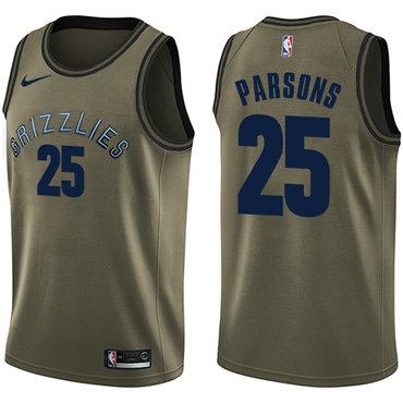 Nike Grizzlies #25 Chandler Parsons Green Salute to Service NBA Swingman Jersey