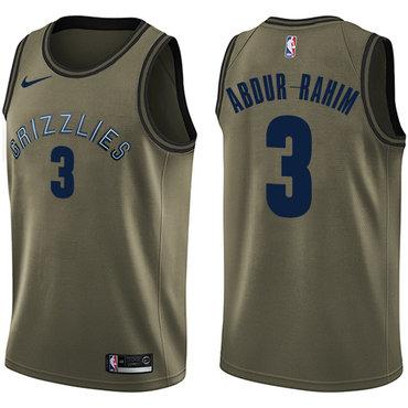 Nike Grizzlies #3 Shareef Abdur-Rahim Green Salute to Service NBA Swingman Jersey
