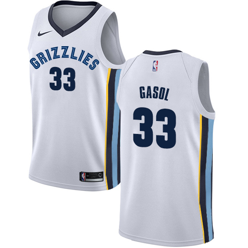 Nike Grizzlies #33 Marc Gasol White NBA Swingman Association Edition Jersey