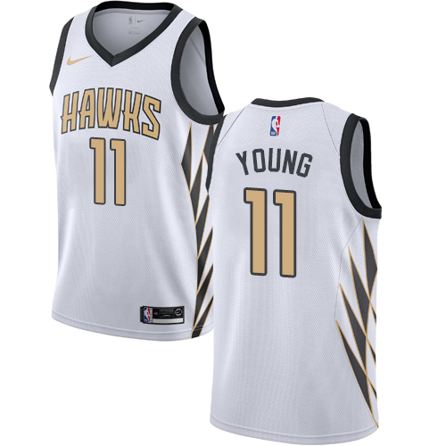 Nike Hawks #11 Trae Young White NBA Swingman City Edition 2018 19 Jersey