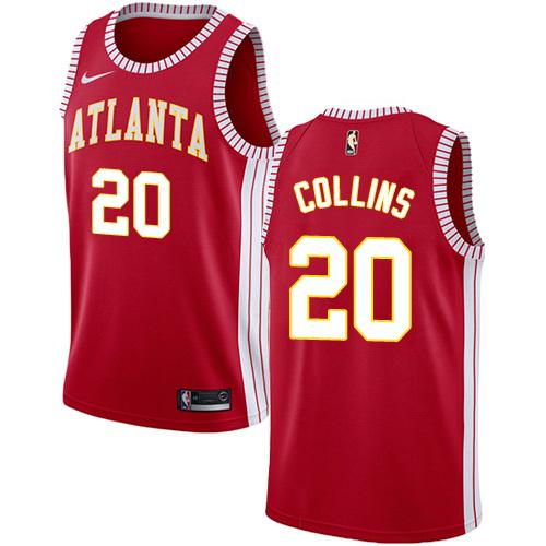 Nike Hawks #20 John Collins Red NBA Swingman Statement Edition Jersey
