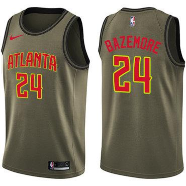 Nike Hawks #24 Kent Bazemore Green Salute to Service NBA Swingman Jersey