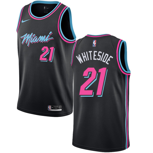 Nike Heat #21 Hassan Whiteside Black NBA Swingman City Edition 2018 19 Jersey