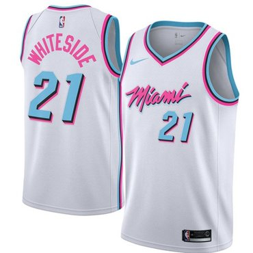 Nike Heat #21 Hassan Whiteside White NBA Swingman City Edition Jersey