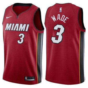 Nike Heat #3 Dwyane Wade Red NBA Swingman Statement Edition Jersey